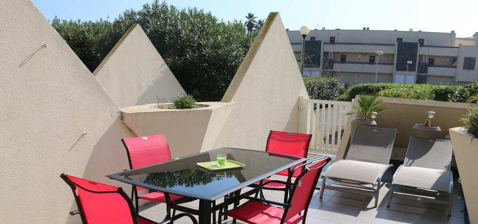 our accomodation in naturist rental by week residence  Heliopolis: RESID real estate Cap d'Agde