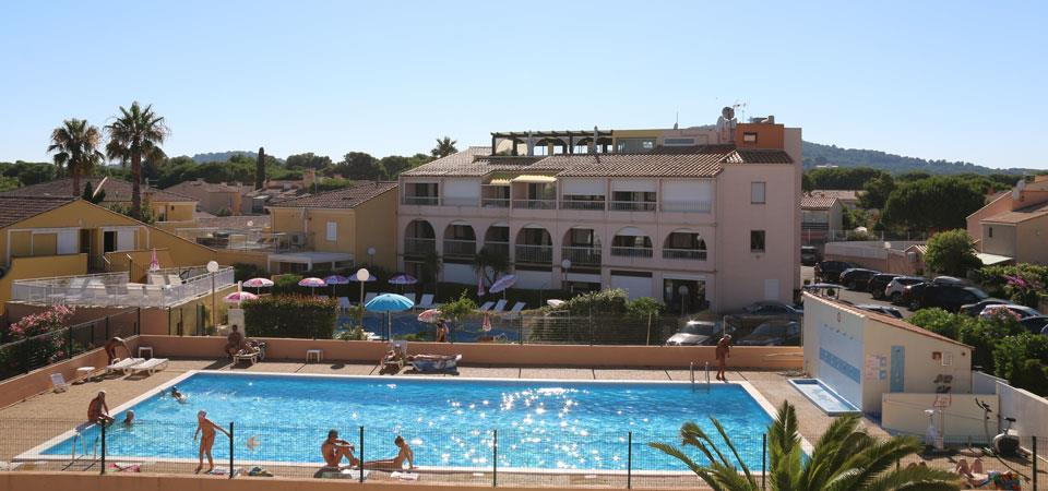 residence port soleil our accomodations in naturist rental by week : RESID agency holidays rental Cap d'Agde